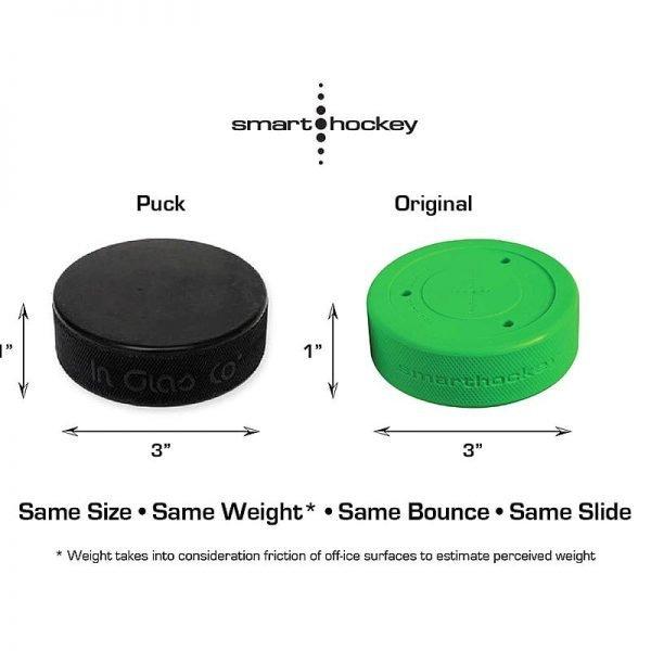 Smart Hockey Off-ice Treningspuck, sammenligning